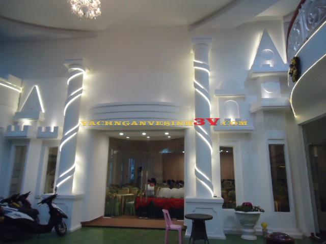 3V GROUP cung cấp vách ngăn vệ sinh tại Nhà hàng tiệc cưới Bạch Viên, Quận 11, TP HCM