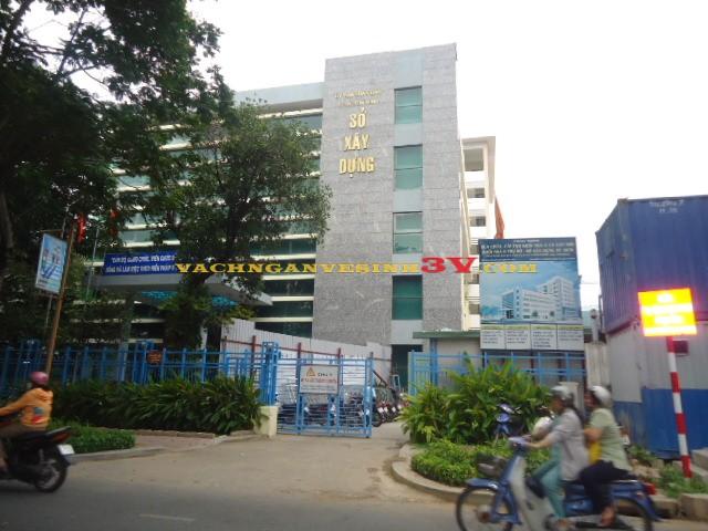 3V GROUP Thi công vách ngăn vệ sinh ở tại Sở xây dựng, Quận 3, Thành Phố Hồ Chí Minh