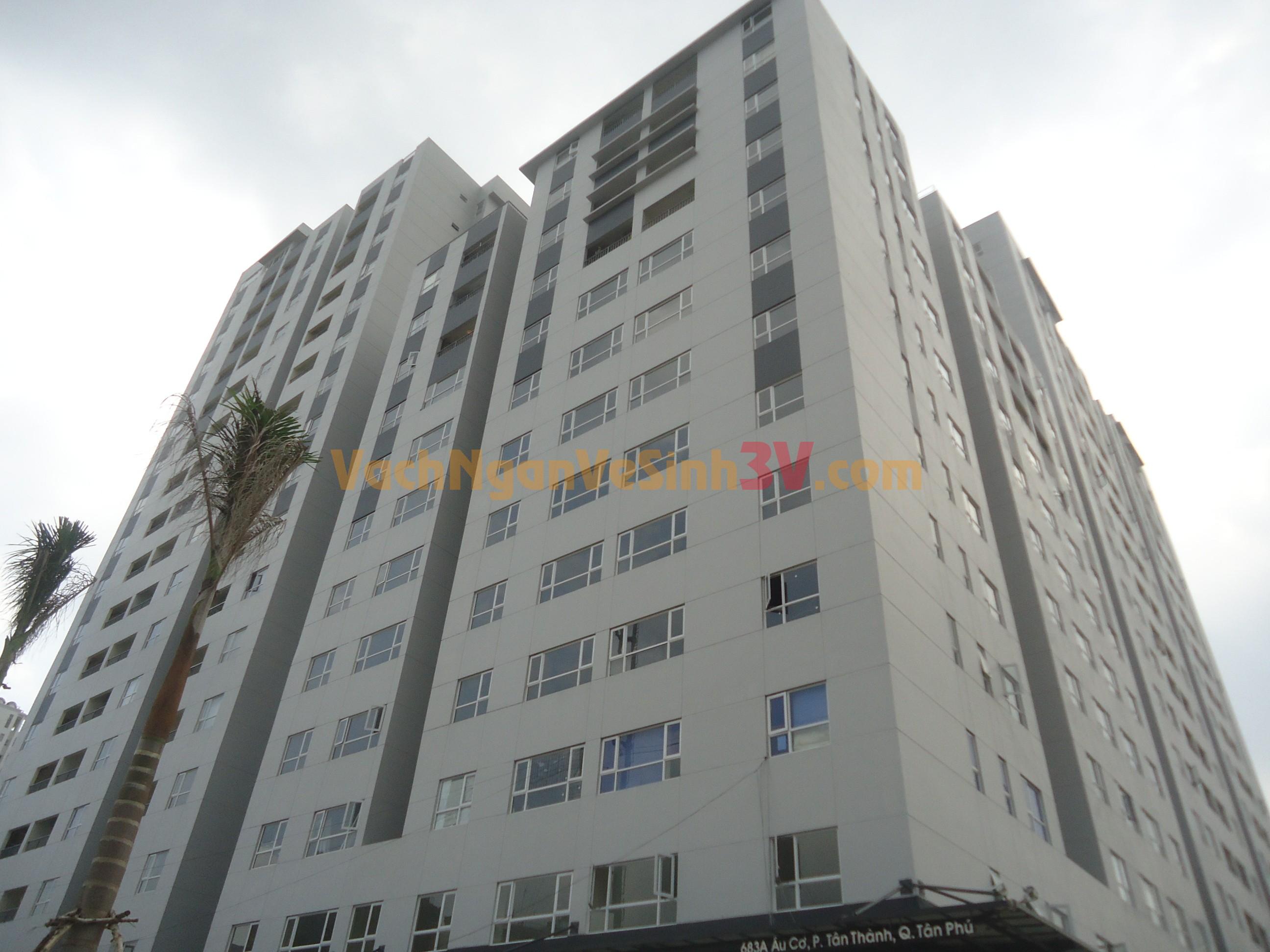 3V GROUP thi công vách ngăn compact tại chung cư tại Quận Tân Phú – TP HCM