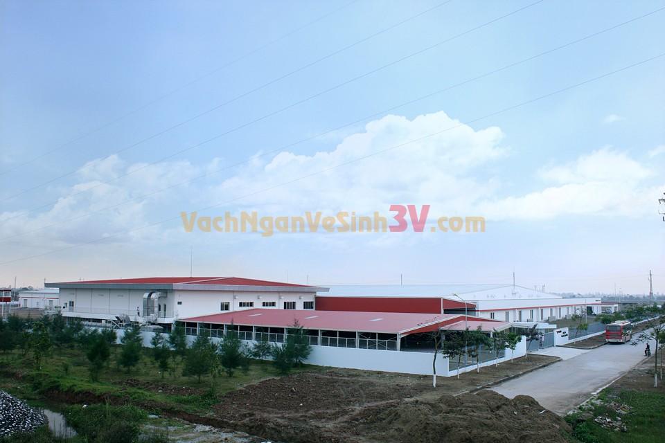 3V GROUP cung cấp vách ngăn nhà vệ sinh tại nhà máy Yazaki – Dĩ An – Bình Dương