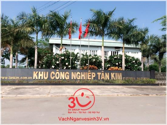 Vách ngăn vệ sinh 3V khảo sát công trình tại KCN Tân Kim tỉnh Long An