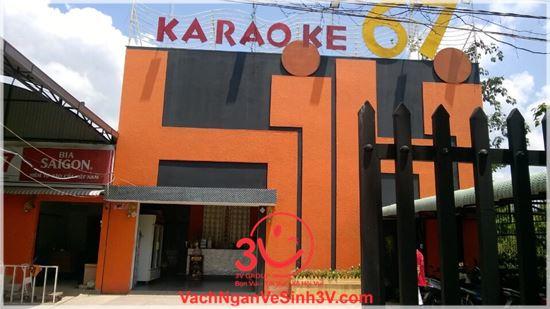 Công ty 3V thi công vách ngăn Compact HPL quán Karaoke Hihi 67, Vĩnh Long