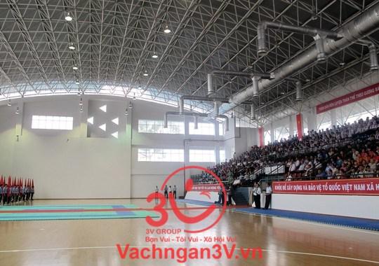 3V thi công vách ngăn vệ sinh cho dự án trung tâm Thể dục thể thao Cần Giờ, TP HCM