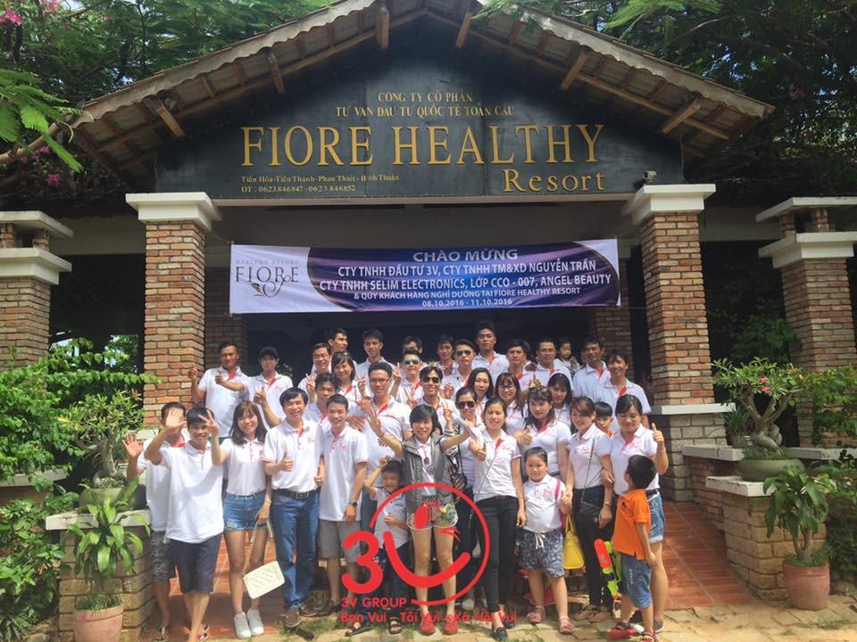 Trong 2 ngày 8 và 9/10/2016 vừa qua, công ty 3V đã tổ chức Tour du lịch tưng bừng tại Resort 4 sao FIORE HEALTHY RESORT – Phan Thiết