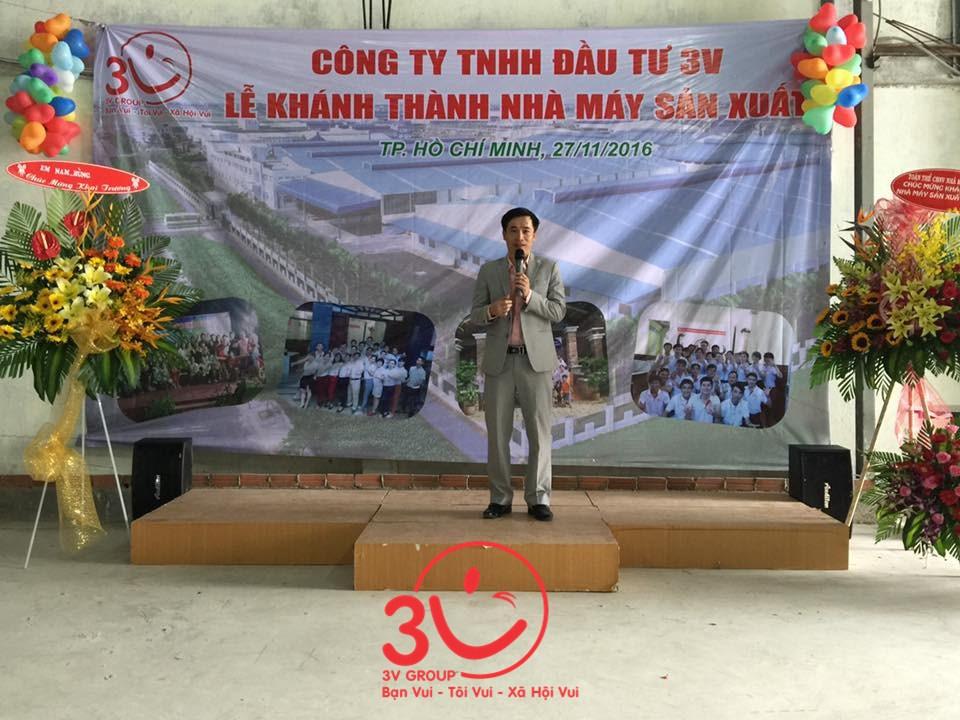 Khai mạc buổi Lễ Khánh thành, Tổng Giám đốc Lê Đức Hà đã phát biểu ghi nhận kết quả hoạt động sản xuất kinh doanh, và biểu dương thành tích mà cán bộ công nhân viên công ty