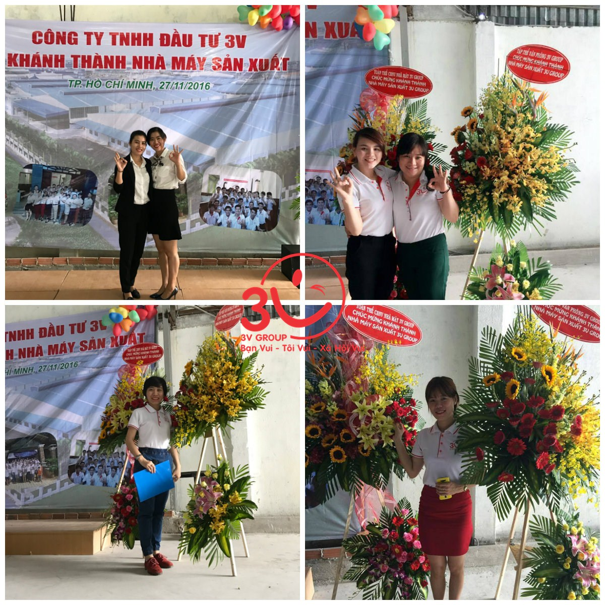 Lễ Khánh thành diễn ra trong sự hân hoan của cán bộ công nhân viên 3V