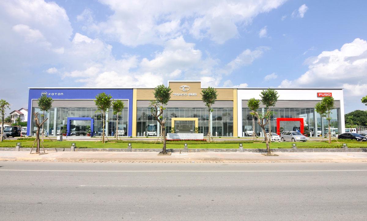 Lắp đặt vách compact Trung tâm ô tô tải Bus Thaco, An Giang