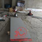 Làm vách ngăn nhà vệ sinh ở Trung tâm văn hóa thị trấn xã Song Bình