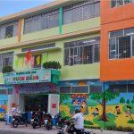 Vách ngăn compact nhà vệ sinh chất lượng ở trường Mầm Non Hoa Hồng