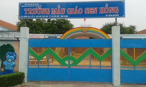 Dự án làm vách ngăn wc tại Trường Mầm Non Sen Hồng, HCM