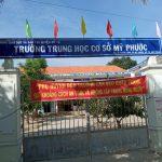Vách ngăn khu vệ sinh Trường THCS Mỹ Phước, Huyện Mỹ Tú, Sóc Trăng