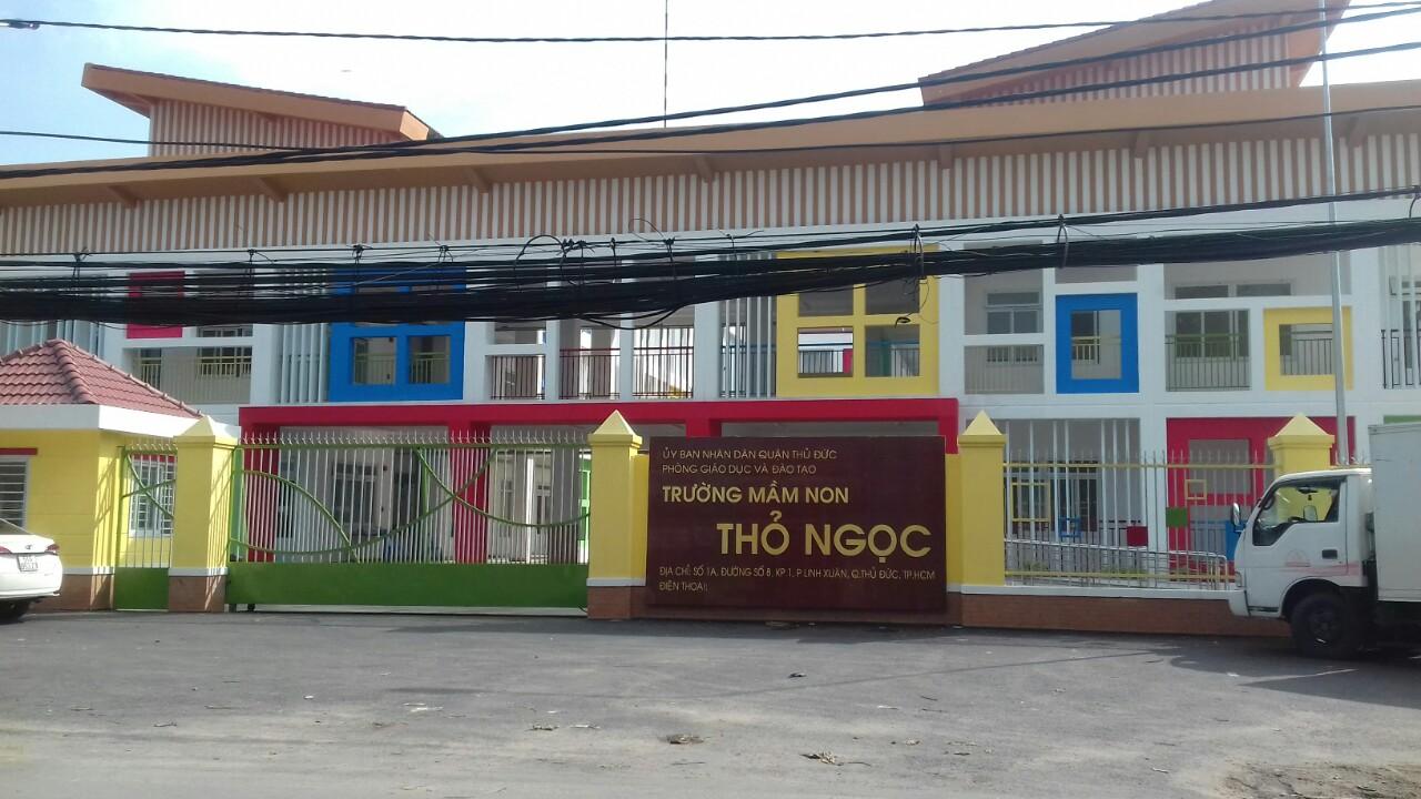 Dự án tấm compact HPL tại Trường Mầm Non Thỏ Ngọc, TP HCM