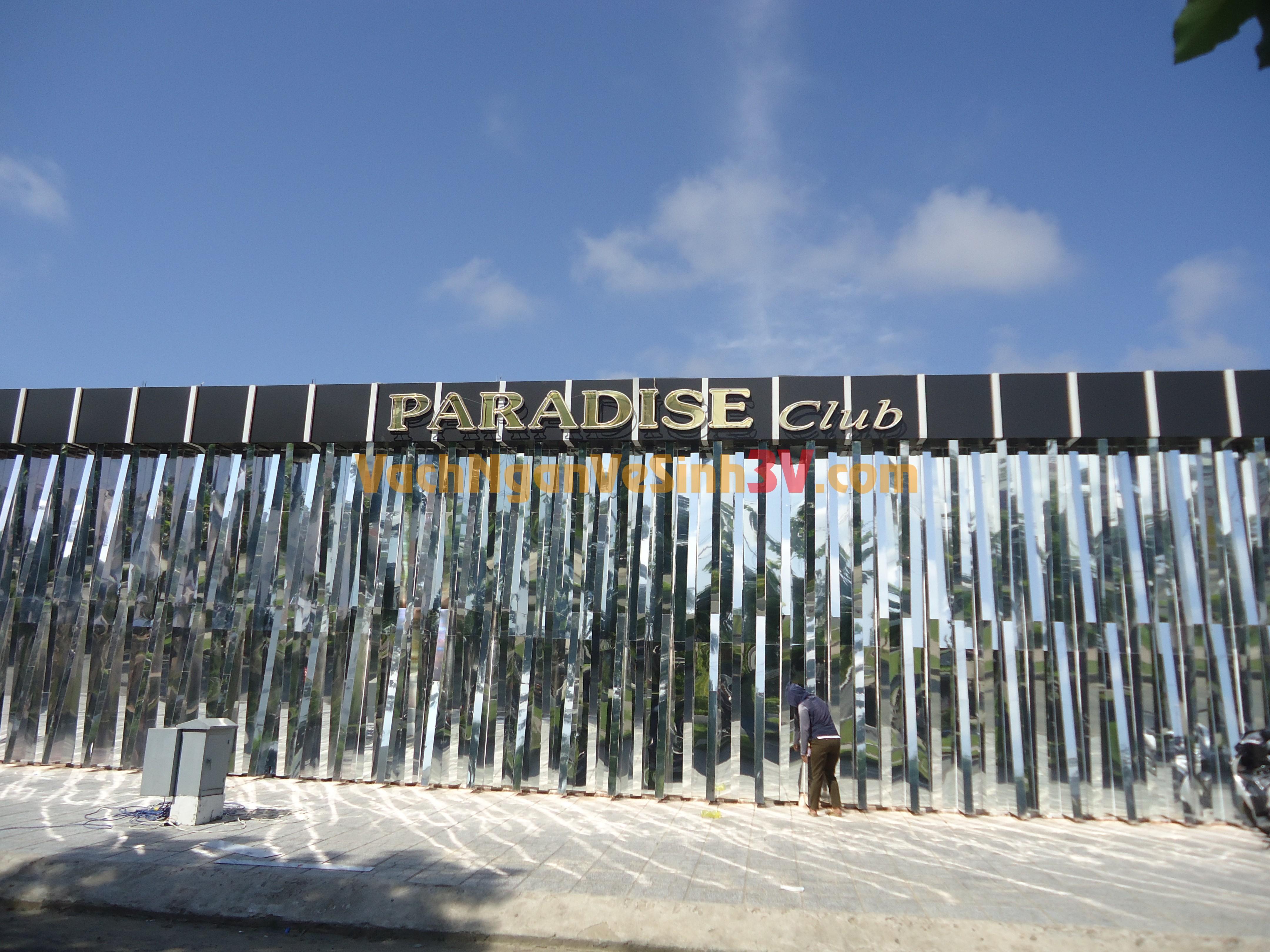 3V GROUP thi công vách ngăn vệ sinh compact cho vũ trường Paradise tại Rạch Giá Kiên Giang