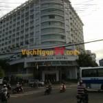 Vách ngăn nhà vệ sinh tại Khách sạn Michelia, Nha Trang, Khánh Hòa